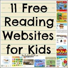 FREE reading websites for kids! Perfect for Daily Pinning so I dont forget to try all of these literacy sites school year. My reluctant readers will love these. Free teaching websites are the best! Reading Websites For Kids, Educational Websites For Kids, Kids Reading, Teaching Reading, Free Reading, Teaching Kids, Educational Crafts, Online Reading For Kids, Kids Websites