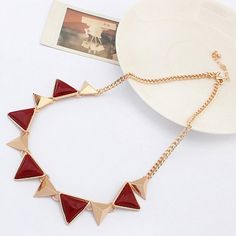 Punk Triangle Pendant Necklace For Women