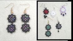 Beading4perfectionists: Superduo and miyuki seedbead earrings beading tutorial