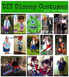 DIY Disney Costumes #DIY #Halloween #Disney