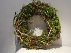 Woodland wreath - use the moss near the creek Wreaths And Garlands, Holiday Wreaths, Door Wreaths, Grapevine Wreath, Deco Floral, Arte Floral, Flower Decorations, Christmas Decorations, Christmas Signs