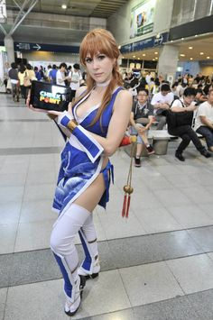 Videogame: Dead Or Alive. Character: Kasumi. Cosplayer:Lucy Lemoine 'aka´Lady Lemon 'aka' Lilia Lemoine. From: Argentina. Event: Tokyo Game Show (Chiba - Japan) 2013. Photo: Checkpoint.