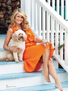 Znalezione obrazy dla zapytania christie brinkley for social life mag Christie Brinkley, Beautiful Celebrities, Beautiful People, Beautiful Women, Beautiful Gorgeous, Celebrity Feet, Celebrity Beauty, Orange Dress, Sports Illustrated