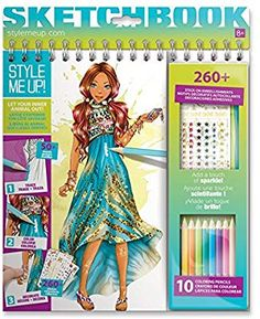 Amazon.com: Style Me Up! Wild At Art - Sketchbook: Toys & Games Amazon Mode, Drawing Books For Kids, Style Me, Mode Style, Art Sketchbook, Optical Illusions, Drawings, Up, Design