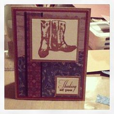 Ginger's Vintage Room: Dakota, close to my heart, ctmh, unity stamp co, thinking of you card, boy card