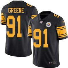Nike Steelers #91 Kevin Greene Black Men's Stitched NFL Limited Rush Jersey