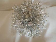 Brides bouquet winter wedding snowflake bouquet by DuckBarnFlorals