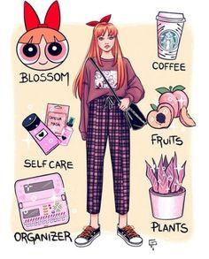 Cute Art Styles, Cartoon Art Styles, Girl Cartoon, Cute Cartoon, Arte Monster High, Super Nana, Powerpuff Girls Wallpaper, Fashion Design Drawings, Anime Outfits