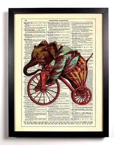 Elephant On A Bicycle Home Kitchen Nursery Bath Office