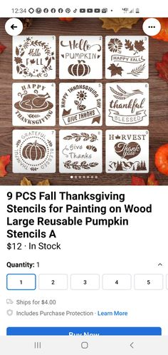 Stencil Painting, Painting On Wood, Pumpkin Stencil, Fall Patterns, Thankful And Blessed, Autumn Day, Give Thanks, Happy Fall, Stencils
