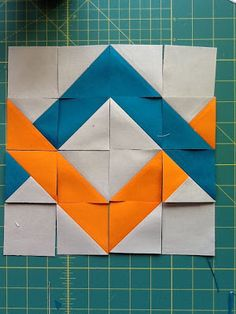 Woven Chevron Block Tutorial by Jess Frost of The Elven Garden.