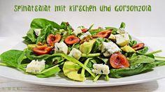 Spinatsalat mit Kirschen und Gorgonzola / http://juli-und-die-welt.blogspot.de/