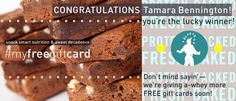 Wow! Thanks again to EVERYONE, for all your contest entries. We had our hands full. Literally. But we've got the winning name, so... we're happy to announce the lucky winner of our #myfreegiftcard Contest is Tamara Bennington! Congratulations! And stay tuned—more FREE gift cards to give a-whey soon! From the entire @proteinbakery team—  #YouGuysAreAwesome!