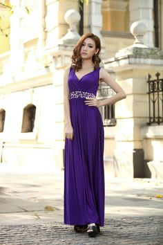 Hey, I found this really awesome Etsy listing at https://www.etsy.com/listing/177775177/purple-wedding-party-maxi-dress-evening