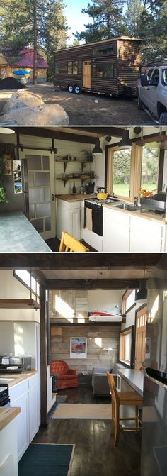 Cory and Hannah Tanler designed and built their own tiny house shortly after they got married. The Oregon couple used salvage materials to help keep costs down, which wound up totaling ~$20,000.