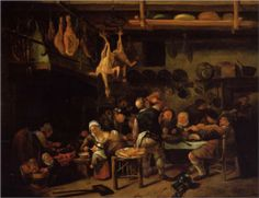 the Fat Kitchen Artist: Jan Steen Completion Date: c.1650