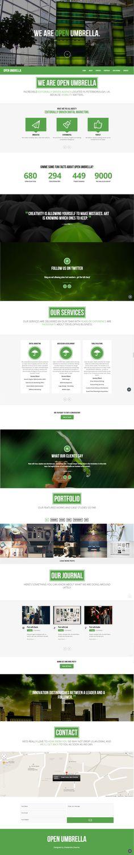 www.openumbrella.org Website design and development company Layout Site, Web Layout, Layout Design, Homepage Web, Flat Web, Web Themes, Ui Web, Screen Design, User Interface Design