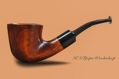 """Smoking pipe """"Bent Dublin""""/Tobacco Pipe KAF203/Wooden pipe from pear/Dublin pipe/Bent pipe/Tabakpfeife/Pipa/Classic pipe/Pipe by filter by KAFpipeWorkshop on Etsy"""