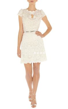 Karen Millen And Summer Cotton Lace White Dress Lace A Line Dress, Lace Dress With Sleeves, Lace Skirt, Karen Millen, One Piece Dress, Embroidery Dress, Classy Dress, Pretty Outfits, White Lace