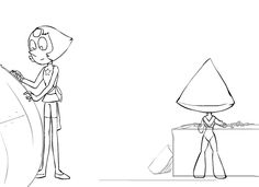 """disgustedorito: """" thetgartist: """" Peridot's new groove! :D One of my favorite scenes ever, recreated with Pearl and Peri. Enjoy! """" omg this animation is really smooth """""""