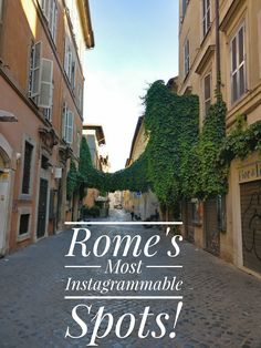 Rome is a heaven for Instagram lovers! Click to see the must see spots for that perfect Instagram photo!!