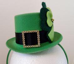 Lucky Leprechaun Mini Top Hat Headband