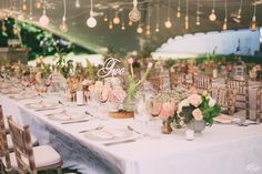 Photo by Kristi Agier Photography Stunning set up under a tent on the Manor house Lawn at Rickety Bridge Rickety Bridge, Tent, Wedding Venues, Table Decorations, Flower Ideas, Lawn, Flowers, Photography, House