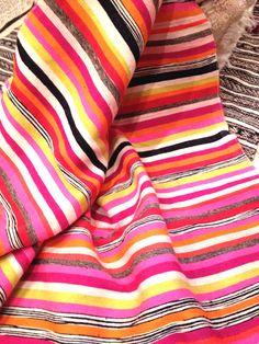 striped & handwoven blanket / bedspread designed by kira-cph.com