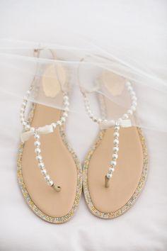 ecd0e1cf98ba Pearl flip flops. Kate Spade. Wedding