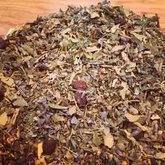 Made this delicious #herbal #tea for a friend, to promote relaxation and manage stress. #linden #lemonbalm #lavender #hawthornberry #licorice #myherbalstudies