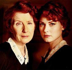 Francis Conroy and Alexandra Breckenridge, Moira o' Hara - Murder House.