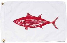 Albacore Nautical Fun Flag - Nylon - 12x18""