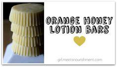 Orange honey lotion bars! Have to make these!