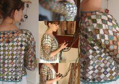 gilet bright star - Photo de vêtements crochet - clothogancho2