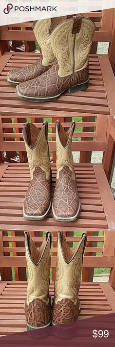 Ariat Boots Really cute Ariat cowboy boots with advanced cushioning. Light scuffing on toes-see pic. Lots of boot scoot boogie left in these boots! 😊 Ariat Shoes Boots