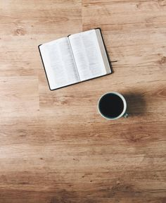 Bible + coffee.