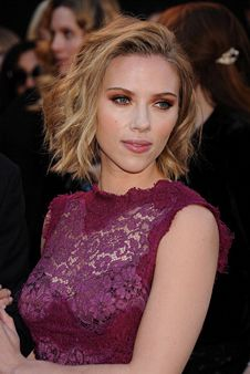 The Hottest Haircuts Right Now (Voted by Glamour magazine). Haircut Idea- Scarlett Johansson's textured bob. This cut looks good on those with medium or wavy hair and any face shape. (If your face is round, keep the front pieces a little longer to slim it.) To play up the texture ask your stylist to chop up and razor the ends and to check the length so it swings freely above the shoulders.