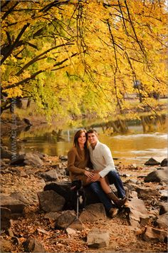 Fall Engagement Photo Session - Sweater Dress and Cowboy boots