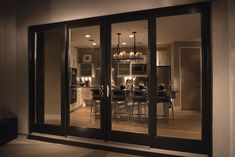 Large Patio Doors with Black Frame