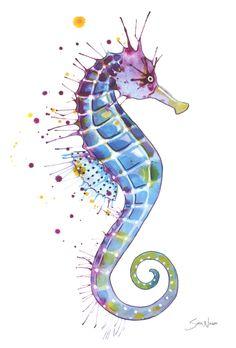 Caballito de mar: Arte púrpura