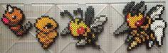 #013-#015 Weedle Family - Pokemon perler beads by TehMorrison on DeviantArt