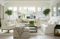 White living room...really like this