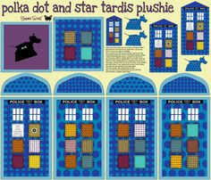 Everyone needs a little tardis of their very own.  This fabric plan for a tardis plushie was found on spoonflower.