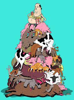 La triste realidad sobre el mundo de hoy en día ilustrado por Steve Cutts | ¿Lo Sabes?