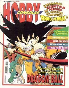 Portada de la edición 18 publicada en el año 1993.En ella se anuncia la llegada de la serie japonesa, con mas éxito del momento, a los videojuegos: Dragon Ball. Se aprecia al protagonista de dicha serie,Goku.