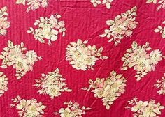 Floral Curtain Panel Single Nautica Pink Red Flower Shabby French Country Fabric #Nautica #FrenchCountry