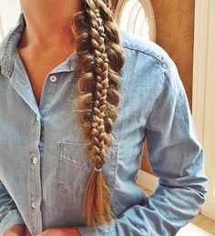 To perpetuate my love affair with braids... 50 French braid hairstyles for 2015. Cute French Side Braid