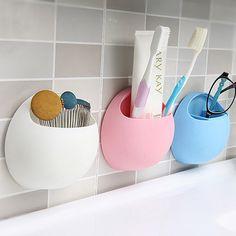 1pcs Toothbrush Holder Wall Suction Cup Organizer Kitchen Bathroom Storage Rack Bathroom Kitchen Accessories