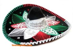 Adult Premium Charro Sombrero Mariachi Hat 3 Colors w/ 3 color trim Mariachi Hat, Mexican Mariachi, Poncho Mexican, Mexican Hat, Mexican Quinceanera Dresses, Mexican Fashion, Hats, Organizing, Stuff To Buy