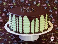 Andes Mint Chocolate Cake w/ Ganache